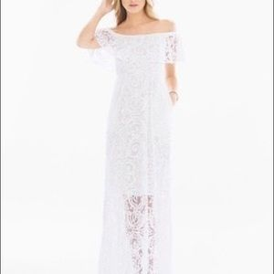Soma white burnout off the shoulder maxi dress